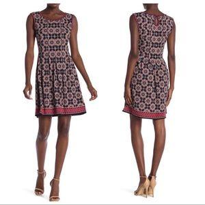 Max Studio Sleeveless Fit & Flare Dress
